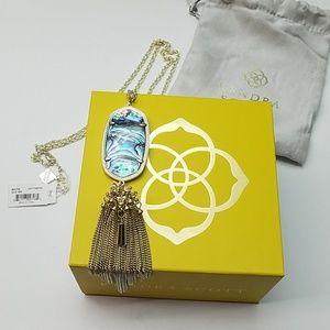 💕Kendra Scott Rayne Necklace Gold/Abalone NWT